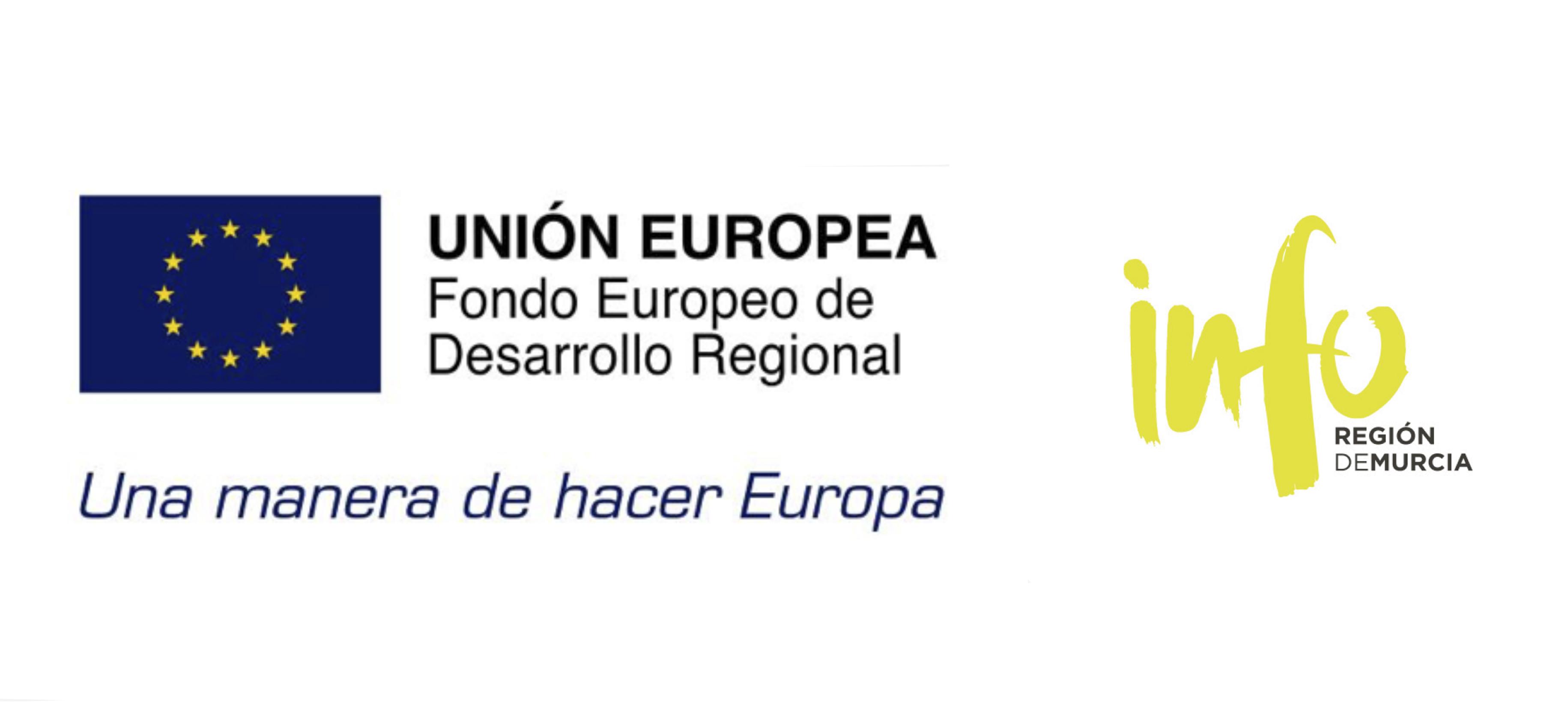 Cofinanciación Fondos FEDER e INFO Región de Murcia